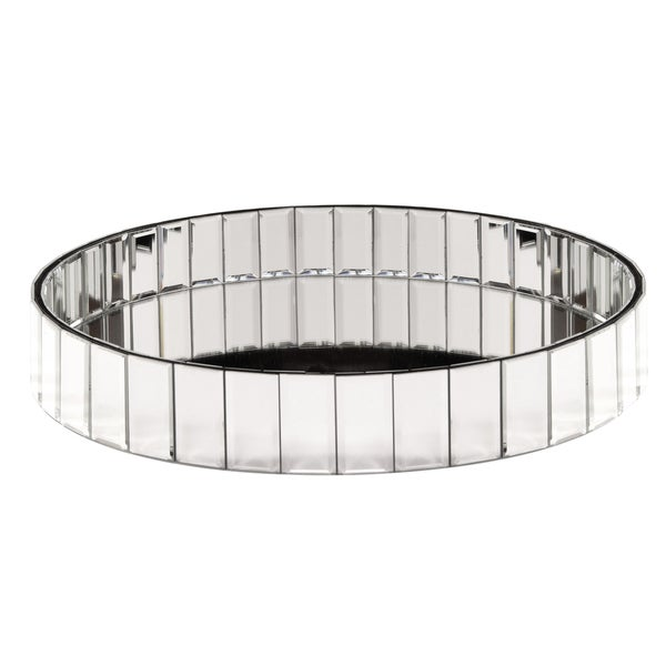 Circular Mirrored Surface Decorative Tray