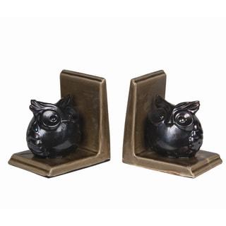 2 piece Ceramic Owl Bookends