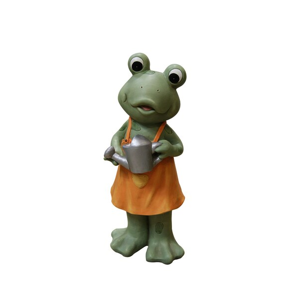 21-inch Frog Girl in Orange Dress