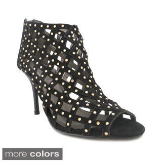 Olivia Miller Women's 'Anneliese' High-heel Cut-out Booties