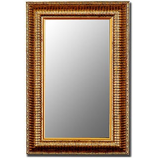 Waterfall Gold Over Antique Silver Framed Wall Mirror