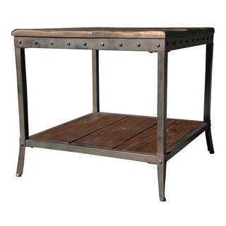 Trenton Distressed Pine/ Metal End Table