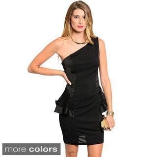 Stanzino Women's Single Shoulder Peplum Dress