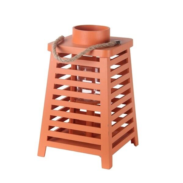 Orange Wooden Lantern