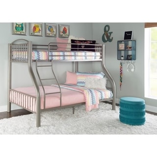 Oh! Home Carlisle Twin over Full Pewter Bed
