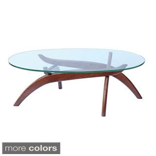 Spider Wood and Glass Coffee Table