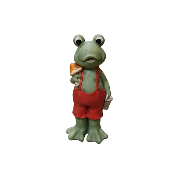 22-inch Frog Boy in Red Suspenders