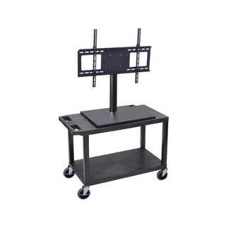 Offex ET25E-B 1-shelf Flat Panel TV Cart With Electric