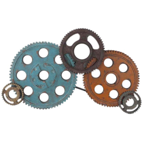 Wall Decor Gears : Aurelle home metal gears wall decor  overstock
