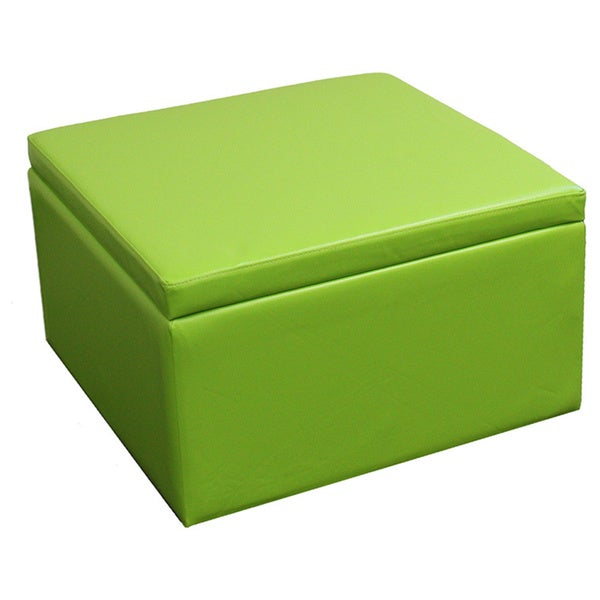 Green Storage Ottoman With Four 4 Seating Blocks Bench Coffee Foot Furniture Ebay