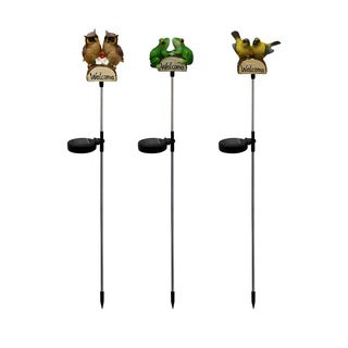 Solar Animals with 'Welcome' Sign Garden Stake (Set of 16)
