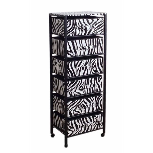 6-drawer Black Frame Rack on Wheels