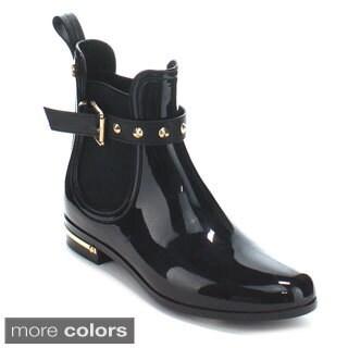 Forever Women's 'Dottie-5' Pull-on Ankle Rain Boots