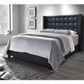 DG Casa Black Savoy Wingback Bed