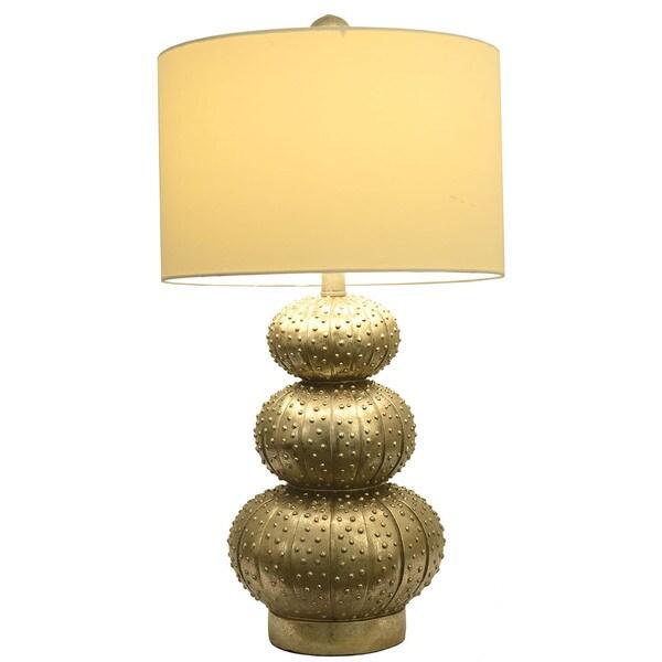 Silver Leaf Sea Urchin Lamp