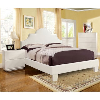 Furniture of America Sharlise Modern 3-Piece Bed, Nightstand and Soft Comfort Mattress Set