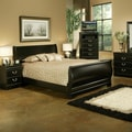 Regency Traditional Black Sleigh Bed