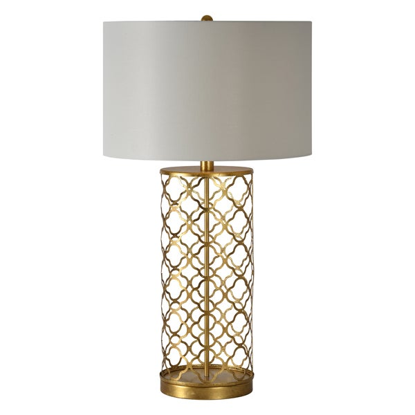 Stardust Single-light Gold Leaf Table Lamp
