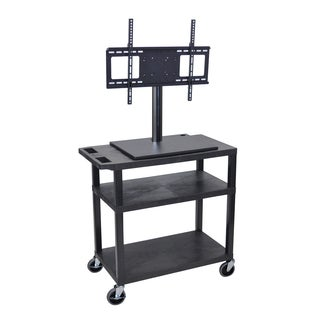 Luxor 2-Shelf TV Cart with Electrical Outlet