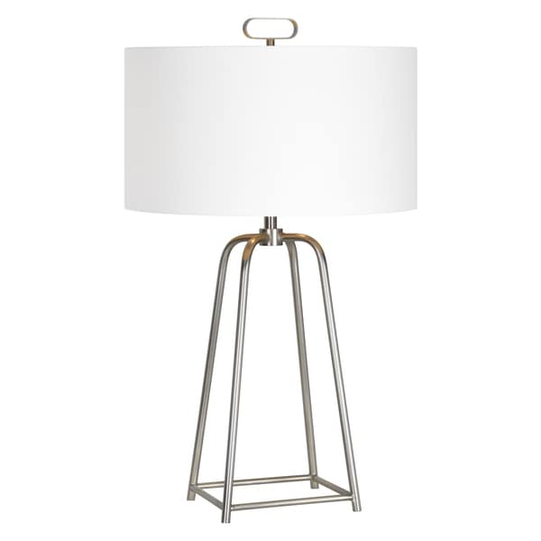 Bodice Single-light Satin Nickel Table Lamp