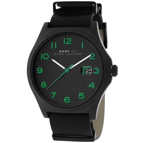 Marc Jacobs Men's MBM5062 Jimmy Black Leather Watch