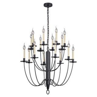 Lance 16-light Black Chandelier