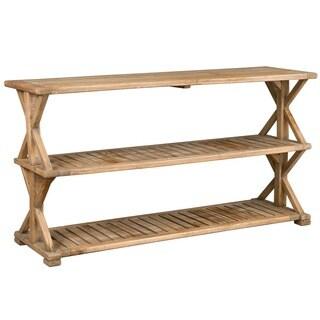 Decorative Promenade Rustic Wooden Console Table