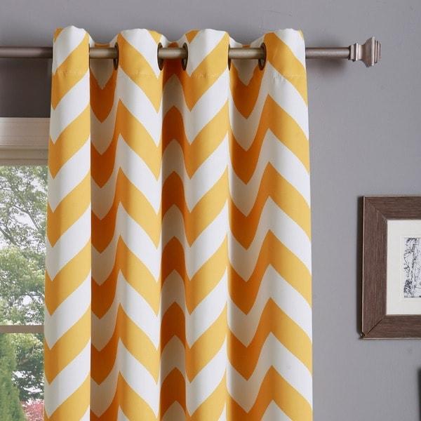 Chevron curtains yellow