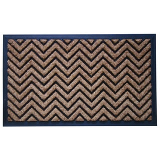 Molded Natural Brush Chevron Design Doormat