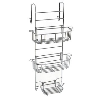 Over The Shower Door and Tub Enclosure Stainless Steel Shower Caddy