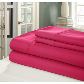 Chic Home Peach Skin Bright Microfiber Sheet Set