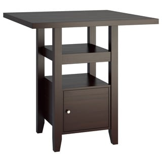 CorLiving Counter Height Cappuccino Dining Table with Cabinet