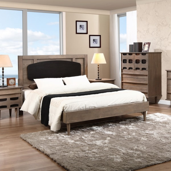 Vanda Charcoal Grey/ Sicilian Black Queen Bed