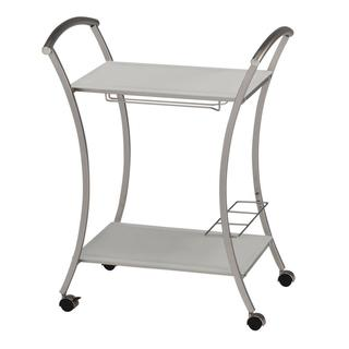 Arion 2 Tier Trolley with Wine Glass and Bottle Holder