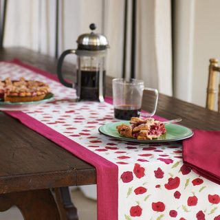 Couleur Nature Poppies Table Runner