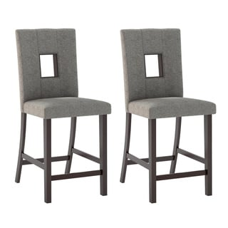 CorLiving DIP-420-C Bistro Dining Chairs in Grey Sand Fabric (Set of 2)