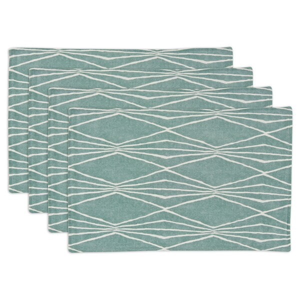 Handcut Shapes Lined Placemats (Set of 4)
