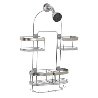 Expanding Convertible Showerhead and Handheld Stainless Steel Shower Head Caddy
