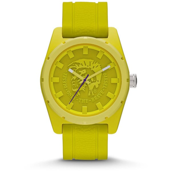 Diesel Unisex DZ1626 Yellow Silicone Strap Watch