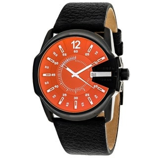 Diesel Men's DZ1657 Mega Chief Leather Stainless Steel Watch