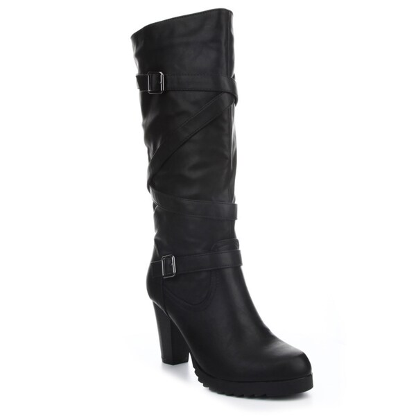 Cape Robbin Women's 'Heather 01' Knee-high Low Heel Boots