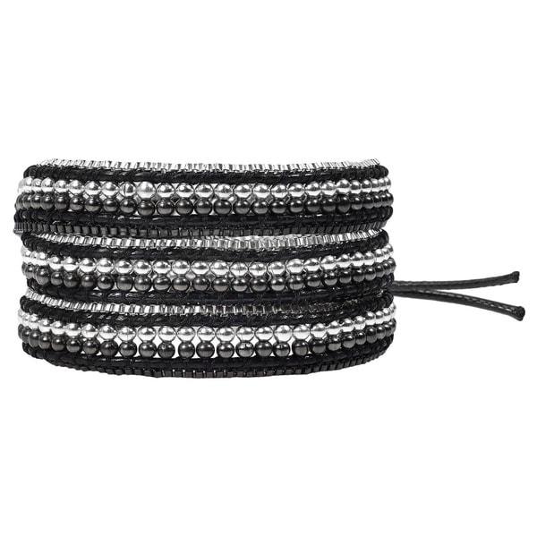 Exotic Affair Two Tone Metal Three Wrap Fashion Bracelet (Thailand) 14124241