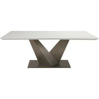 Aurelle Home Scissor Dining Table with White Top