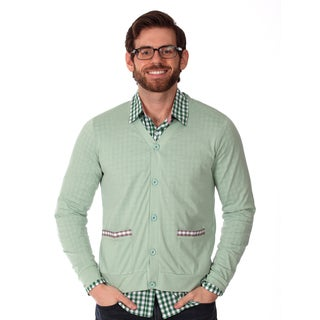 Filthy Etiquette, Men's, Lightweight, Green Cardigan