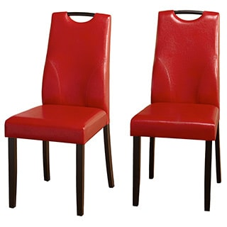 Simple Living Ruben Dining Chair, Red (Set of 2)