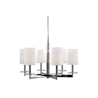 Hudson Valley Chelsea 6-light Chandelier with Fabric Shade