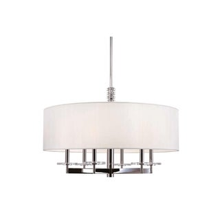 Hudson Valley Chelsea 6-light Chandelier with Faux Silk Shade