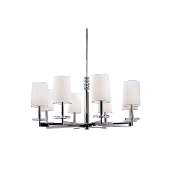 Hudson Valley Chelsea 8-light Chandelier, Polished Nickel