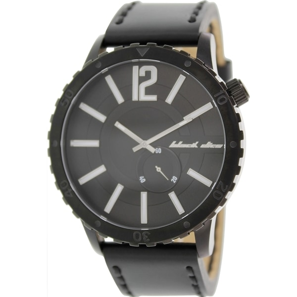 Black Dice Men's Swagger BD-069-01 Black Leather Analog Quartz Watch