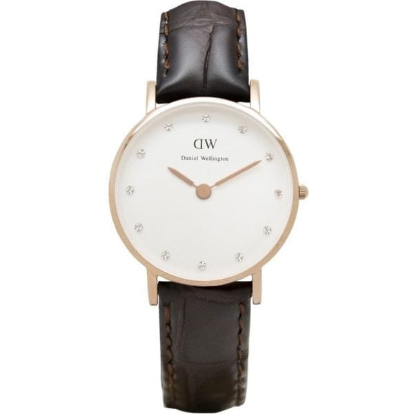 Daniel Wellington Women's Classy York 0902DW Brown Leather Quartz Watch